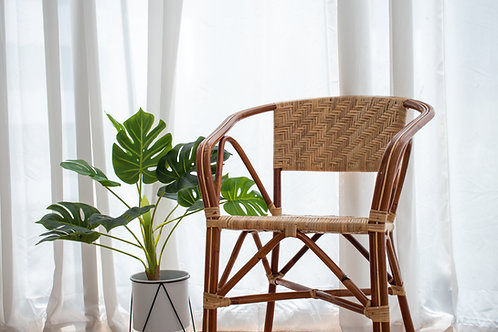 Woven Grand Brown Rattan Chair (ZigZag)