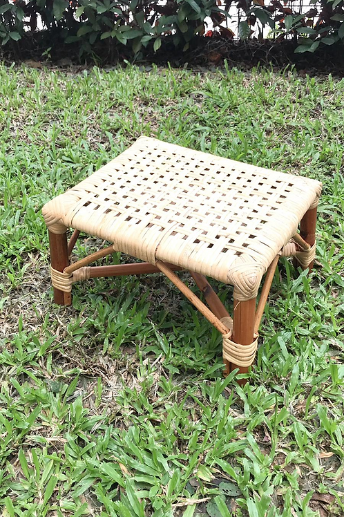 Little  brown stool with white oak webbing (New Arrival)