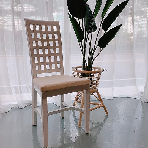 Checkered Wood Chair (New Arrival)