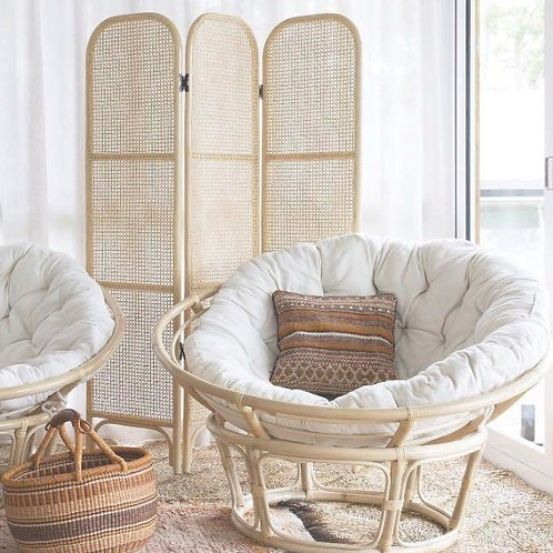 Papasan with natural rattan frame New Arrival
