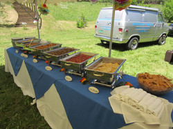 Mexican buffet ready for guests