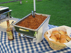 Pulled pork, fresh baked rolls, coleslaw and our Wild Turkey BBQ sauce