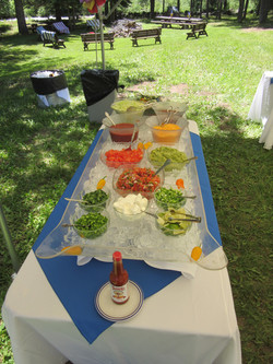 Salsa bar to go with our Mexican buffet