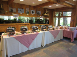 Wedding buffet at ACES