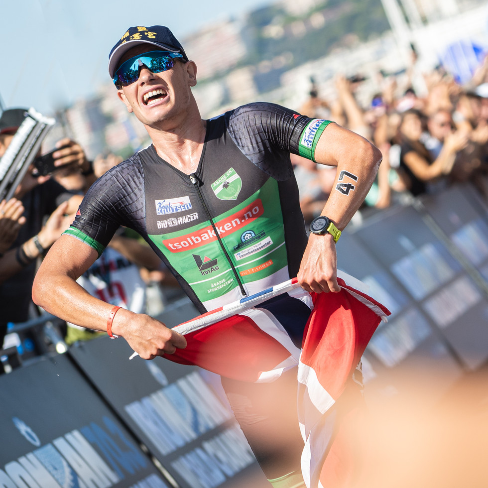 Gustav Iden about to become IRONMAN 70.3 World Champion