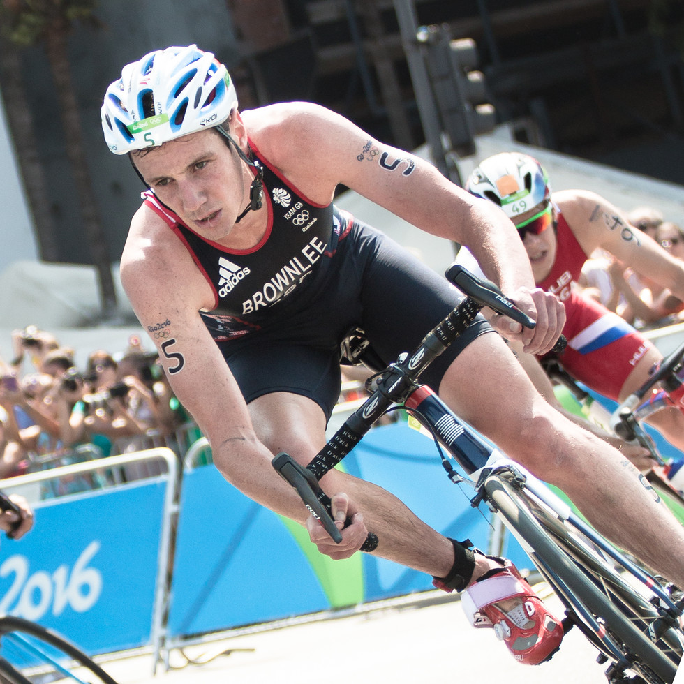 Alistair Brownlee on his bike at 2016 Olympics - Triathlon Men