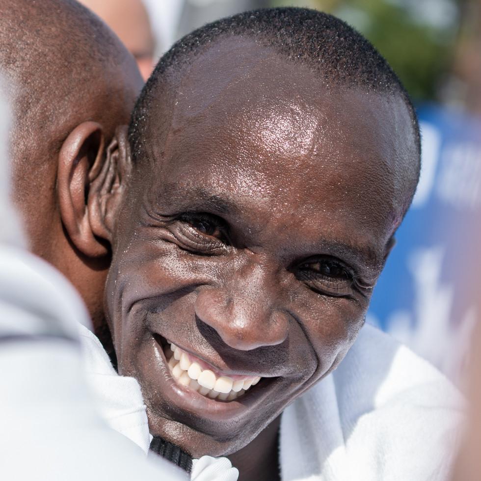 The face of the new marathon world record - Eliud Kipchoge