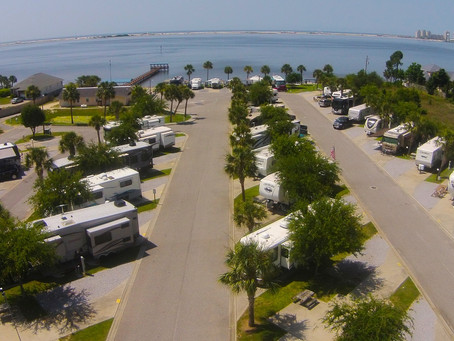 Beachfront RV Park, Panhandle of Florida