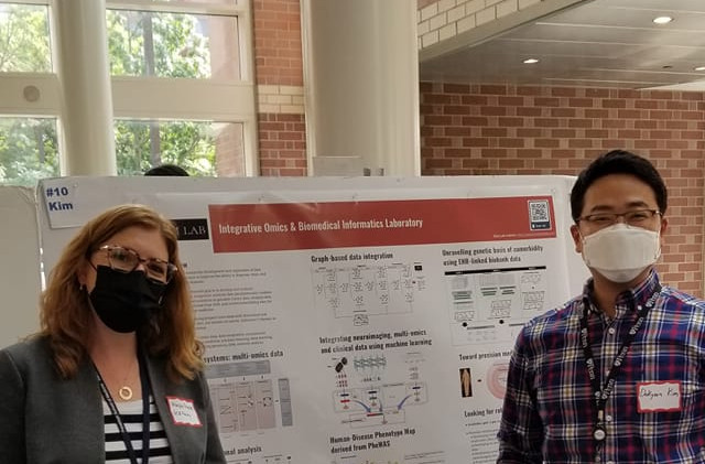 At the GCB Poster Session