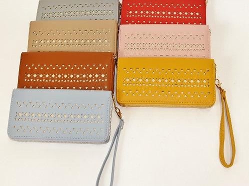 Perforated Zipper Wallet A503P