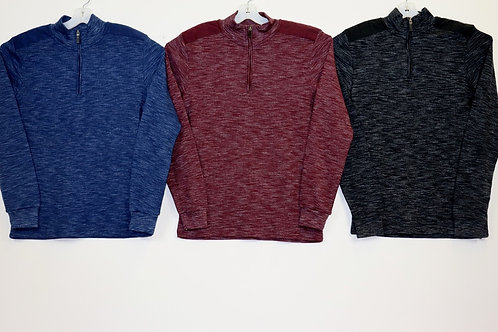 Pullover Shirt With Quarter Zip MKL00031