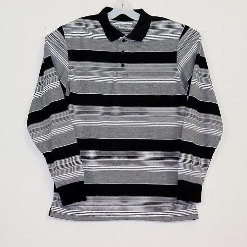 L/S Striped Polo Shirt 104ST-F