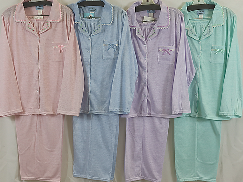 L/Sleeve Pajamas Plus Sizes 2126