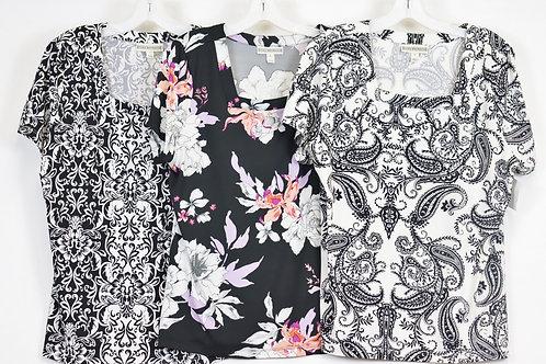 Short Sleeve Print Top CBV142