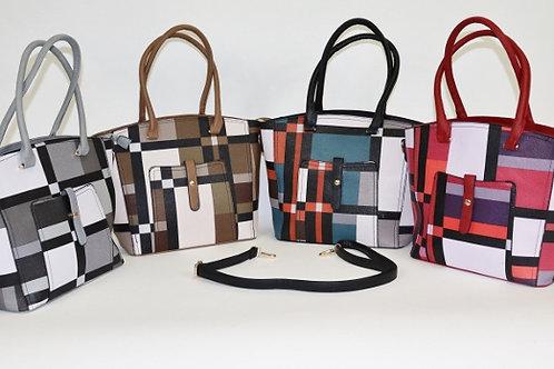 Plaid Satchel Handbag 7324