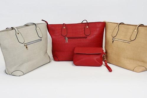 Patterned Tote Shoulder Bag 7320