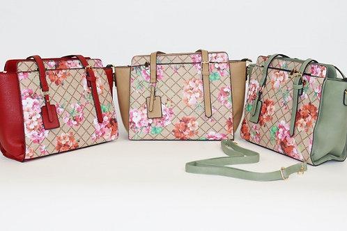 Floral Satchel Handbag 7709