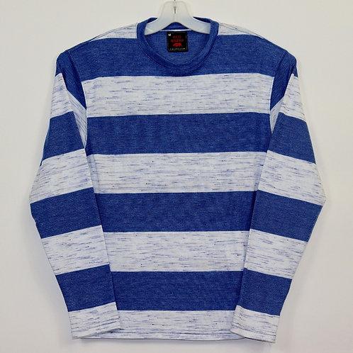 Long Sleeve Striped Knit Shirt 108LS-C