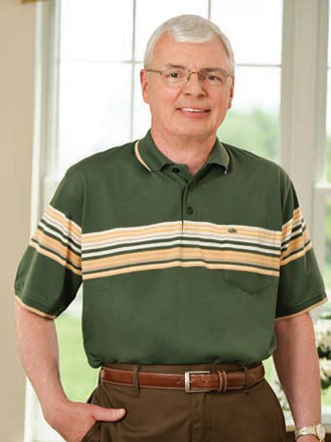 S/S Men's Open Back Knit Shirt 10A3