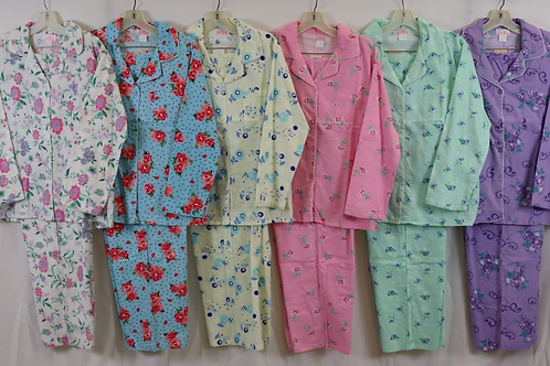 Flannel Pajamas Plus Sizes 9161