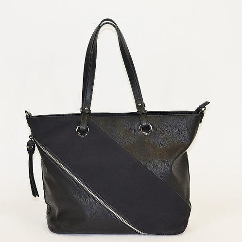 Faux Zipper Tote Shoulder Bag 38833