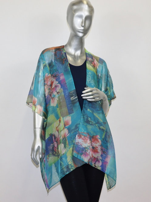 Multi-Colored Sheer Shawl BF1181P