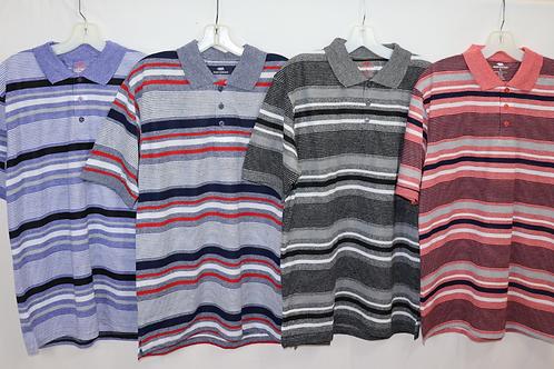 Short Sleeve Stripe Knit Polo   MKP-848B