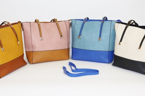 Two Color Joint Tote Bag  7710
