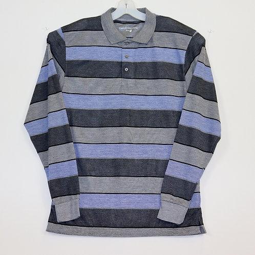 Long Sleeve Striped Polo Shirt 104ST-E