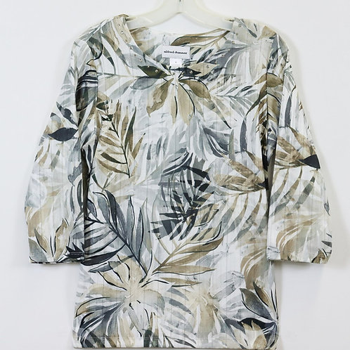 Alfred Dunner 3/4 Sleeve Print Top 8157-8257
