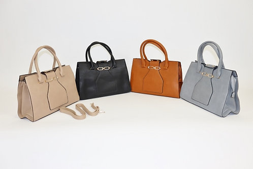 Gold-Accent Satchel 9318