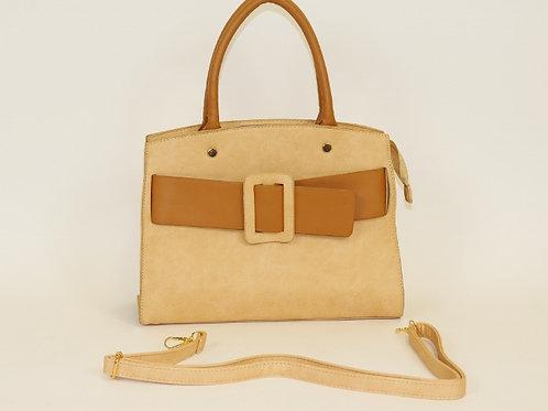 Belt Buckle Satchel Handbag