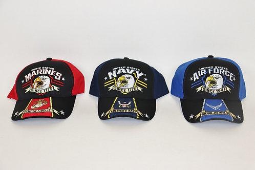 Ball Caps - Marine, Air Force, Navy SEAG