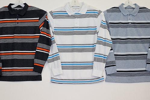 L/S Striped Polo Shirt 104ST-A
