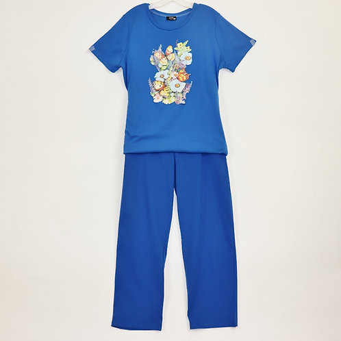 One Piece Jumpsuit With Screen Print Top JS808C
