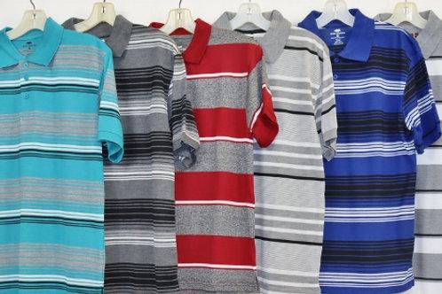 S/S Stripe Knit Polo 103ST