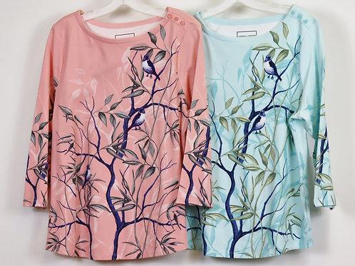 3/4 Sleeve Cotton Top CR14140