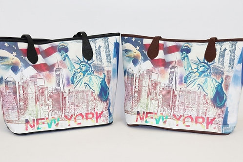 """New York"" Zip Tote 8011"