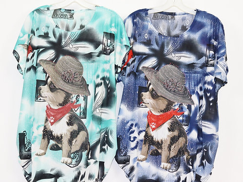 Dog with Hat Top KS6523