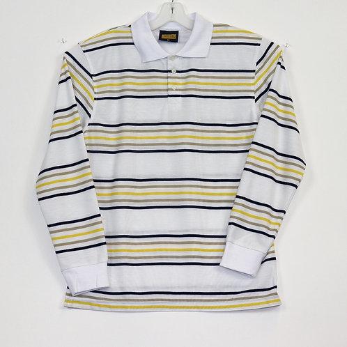 L/S Striped Polo Shirt 104ST-B