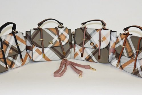 Criss Cross Patterned Purse