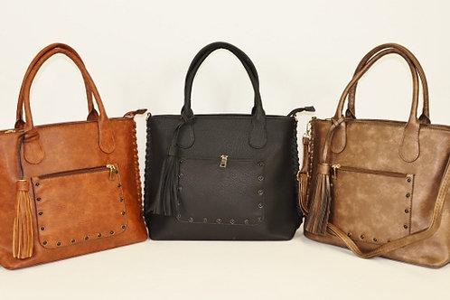 Studded Pocket Tote Handbag 7230HB