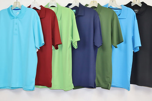 Short Sleeve Solid Color Knit Polo 103SD