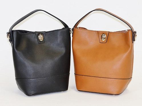 Bucket Crossbody Shoulder Bag with Multiple Straps