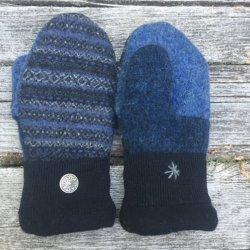 Patterned blue lambswool, small