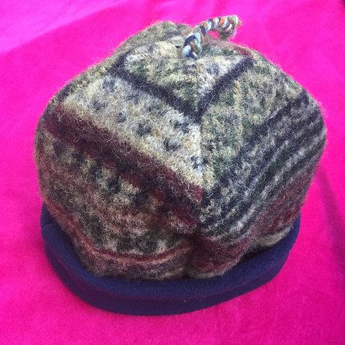 fleece lined wool hat