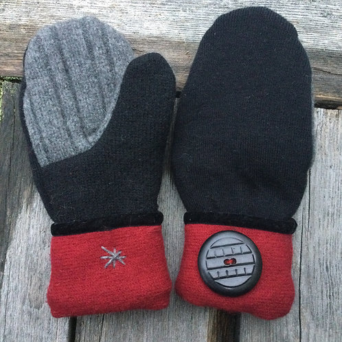 I) Black, gray and red, med. slender