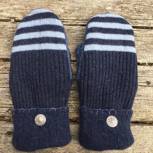 Navy stripes and blues, medium slender