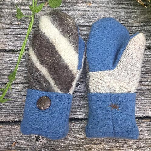 Alpaca stripes with blue/ragg, adult small or big kidsize