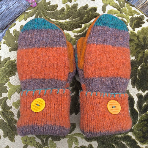 Orange and stripes , adult small or big kid, Arctic warmth